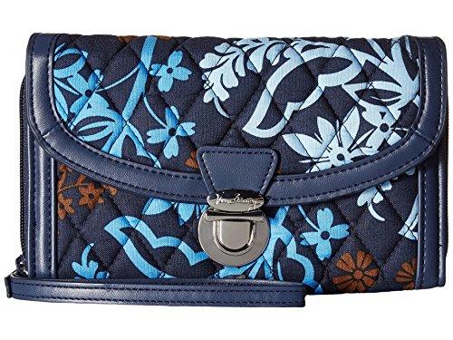 Vera Bradley Women's Ultimate Wristlet Java Floral Clutch - Vera Leder Bradley Handtaschen Aus