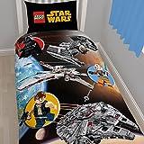 Just Contempo Star Wars Lego Kids Duvet Cover Set, Single, Black
