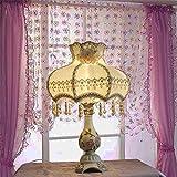 LQXZM Lámpara De Mesa De Estilo Europeo Lampara Lujo Bud Tela Decorativa Lámpara De Escritorio 370 * 550 (Mm)