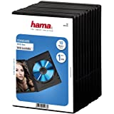 Hama - DVD Jewel Case with foil, 10-pack, black, Negro