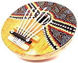 Karimba Kalimba Guitare Piano à Pouce Sanza Coco Instrument Musique Aborigène Peint finger tumb piano kalimba coconut handmade