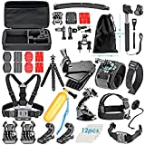 Neewer 50-in-1 Accessori Kit di Action Cam per GoPro Hero 4/5 Session, Hero 1/2/3/3+/4/5, SJ4000/5000, Xiaomi Yi, DV Sportiva di Nikon/Sony in Nuoto Canottaggio Arrampicata Ciclismo Campeggio ecc.