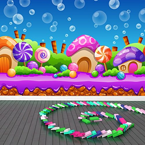 cartoon-candy-land-fairytale-fantasy-fotomurale-bambini-photo-wallpaper-disponibile-in-8-taglie-giga