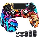 6amLifestyle Cover Skin Controller PS4 Dualshock in Silicone Antiscivolo, Cover Controller PS4 (Graffiti) + 10 Gommini…
