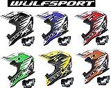 WULFSPORT Motocross Helme Advance Erwachsene Motorradhelm MX Quad Cross SportHelm Offroad Enduro DIRT ATV BIKE Rennhelm mit Brille (S (55-56cm), Schwarz)