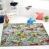 GRENSS Stadt & Dorf Straße Teppich von Cartoon Spielzeug, Umwelt SGS Authentifizierung Kinder Schutz Teppich