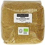 JustIngredients Essential Graines de moutarde jaune biologique (Organic Yellow Mustard Seeds) 1kg - Lot de 2