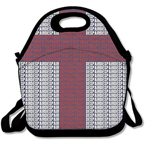 Hope and Despair Lunchtasche aus Neopren mit Schulterriemen für Damen, Teenager, Mädchen, Kinder, Erwachsene
