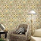 JY ART Küchenfliesen-Aufkleber Wandkunst Fliesentransfers Marokkanischer Stil Wasserdicht ölbeständig Fliesen-Aufkleber Home Moderne Dekoration, 20cm*5m