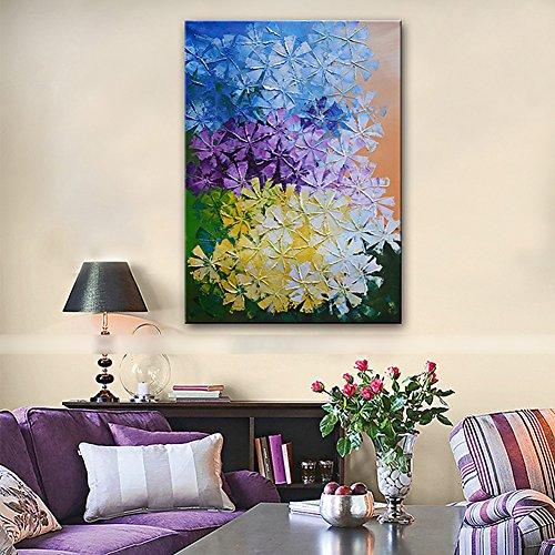 Handgemalte Blumen- / Botanische Vertikale, Rustikales Modernes Segeltuch-Ölgemälde-Hauptdekoration Eine Platte Für Wohnzimmer-Schlafzimmer,20