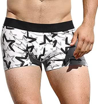 HaiDean Briefs Men Men Cotton Pink Modern Casual Heroes Fashion Print Flat Underpants Under Warm Shoe Boxershorts Panties