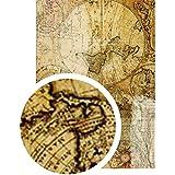 Mapmonde en tissu adhésif tissu A4