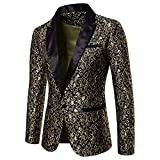 FRAUIT Anzug Blazer Mantel Jacke Herren FRAUIT Männer Exquisites Spitze Muster Freizeit Tanzparty Festival Party Geschäft Zeremonie Wunderschön Kleidung Bluse Top Coat S-2XL