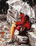 Vernice dai Numeri con Telaio o Not, Nuova Versione Fai da te Olio La pittura di Numeri Kit Olio La pittura di Numeri Kit Digitale Pittura ad olio Tela Kits -16 * 20 pollici