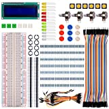 Quimat Basic Starter Kit mit Schalter, Color Led, LCD Modul, Breadboard, Widerstände, Rotary Potentiometer for Raspberry pi 3 Arduino UNO R3 Mega2560 Mega328 Nano QK64