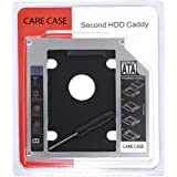 CARE CASE® Universal 9.5mm SATA to SATA 2nd SSD HDD Hard Drive Caddy Adapter Tray Enclosures Compatible with DELL, HP, Lenovo