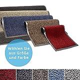 Panorama24 Premium Fußmatte/Sauberlaufmatte für Eingangsbereiche 40x60, Farbe: rot - Schmutzfangmatte in 6 Größen als Türvorleger innen und außen