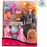 Smiles Creation Beautiful Fashion Doll Set with Outfit Accessories Toy