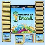 Panini WM 2014 Brasilien - 50 Tüten / 250 Sticker + Leeralbum