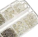 400stk Ösen Binderinge Biegeringe Silber Öse 3mm x 0,5mm Verbinder Offen Ringe Verbindungsringe Kettenzubehör Schmuckteile Basteln DIY M148