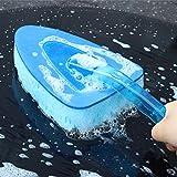 iTimo Brosse de lavage pour voiture à manche long et éponge en triangle outil de nettoyage pour entretien de carrosserie nettoyeur de vitres automobiles lavable entretien auto