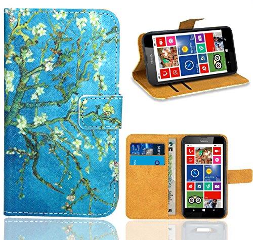 Nokia Lumia 630 Handy Tasche, FoneExpert Wallet Case Flip Cover Hüllen Etui Ledertasche Lederhülle Premium Schutzhülle für Nokia Lumia 630