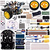 Longruner Arduino Project Smart Robot Car Kit with Two-wheel Drives Intelligent Robotics DS Educational Car for Teens and Adults LSM2