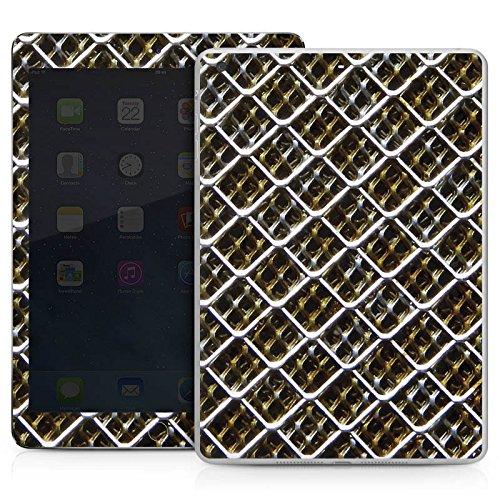 Apple IPad Air Case Skin Sticker aus Vinyl-Folie Aufkleber Maschendraht Zaun Muster Fleck Zaun