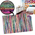 100% Cotton Handmade Multi Colour Chindi Rug Area Rag Rugs Flat Weave Mat Mats produced by Fusion Online - uk online web store