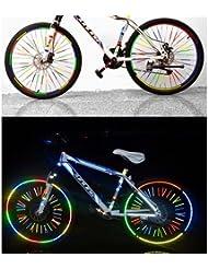 Reflektierende Reflex-Aufkleber Set für Fahrrad Mountainbike in verschiedenen Farben für Sicherheit im Straßenverkehr