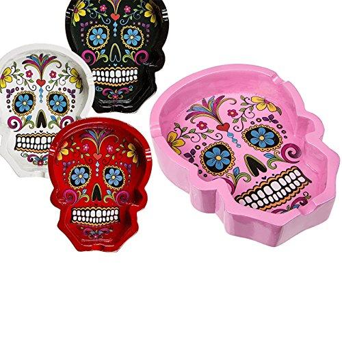 Cenicero Calavera Cráneo Calavera Calavera Coloured Skull