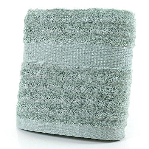 DANCICI Handtuch Bambus Fasertuch Weiches Wasser Verdickung Welle Badetuch Männer und Frauen Haus Handtuch Handtuch, Pink Grün