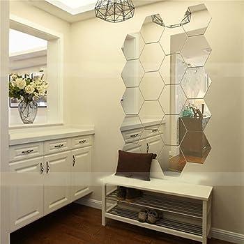 Topgrowth Specchio Camera da Letto 3D Onda Moderno Specchio da ...