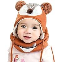 DORRISO Bambino Cappello Sciarpe Autunno Invernale Carina Piccolo Volpe Beanie Cappelli Berretto Bambini Infantili del…