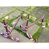 Antikas - 2 soportes para leña chimenea estufa - soporte de leña estilo antiguo