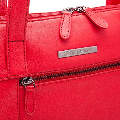 Zerimar Borse a mano da donna | 100% pelle alta qualità | Borsa della Signora | Borsa a mano | Borsa Grande | Borsa Piccola | Scomparti multipli | Misure: 36 x 27 x 10 cms Rosso