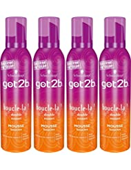 Got2B - Mousse Coiffante - Boucle La - Aérosol 250 ml -Lot de 4