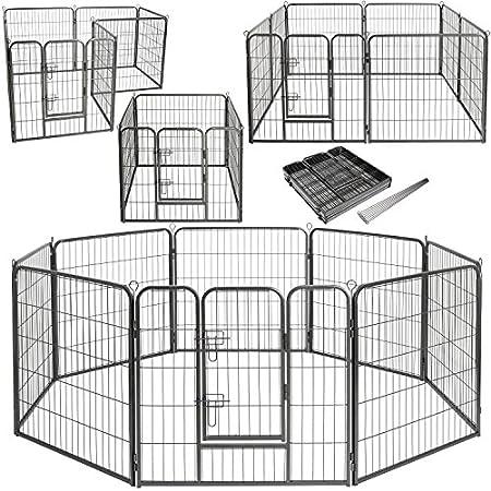 Lovpet Welpenlaufstall Freilaufgehege Welpenauslauf Hundelaufstall Tierlaufstall Hunde, mit Tür und wetterfester…