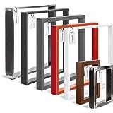 HOLZBRINK Tafelpoot van gesloten profilen 60x20 mm, tafelvoet 40x43 cm, Diep zwart, 1 stuk, HLT-01-E-BB-9005