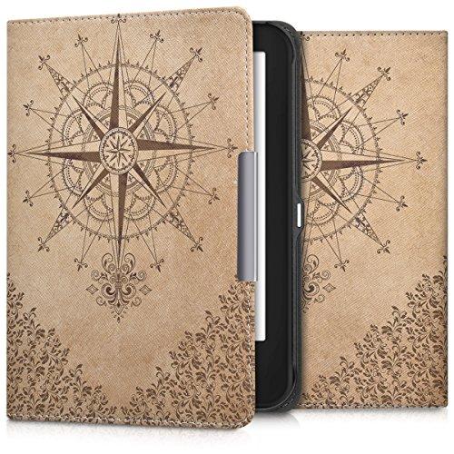 kwmobile Tolino Shine 2 HD Cover - Custodia a Libro in Pelle PU - Flip Case per eReader - Copertina Protettiva per Tolino Shine 2 HD