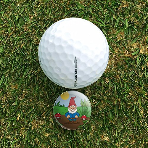 Garden-Gnome-with-Toadstools-Golf-Divot-Repair-Tool-and-Ball-Marker