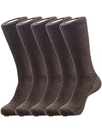 Hans Mesh Full length Socks for Men (Pack of 5) (f5-brn)
