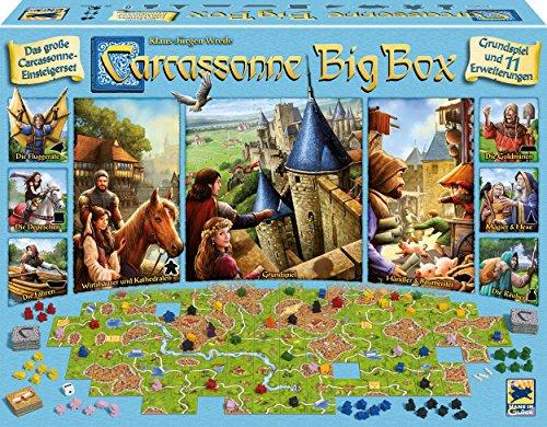 Hans im Glück Schmidt Spiele 48279 Carcassonne, Big Box 2017
