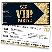Einladungskarten Zum Geburtstag Für VIP   20 Stück   Inkl. Druck Ihrer  Texte   Individuelle