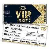 Einladungskarten zum Geburtstag für VIP | 80 Stück | Inkl. Druck Ihrer Texte | Individuelle Einladungen | Jugendweihe | Kindergeburtstag | Karte Einladung | Einladungskarte Jungen Mädchen