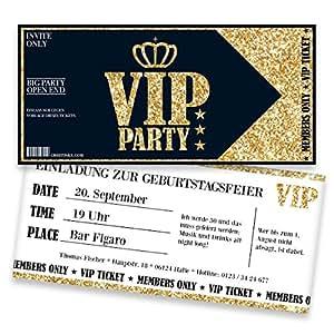 Einladungskarten zum Geburtstag für VIP | 50 Stück | Inkl