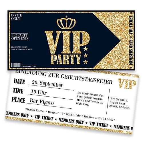 Einladungskarten zum Geburtstag für VIP | 40 Stück | Inkl. Druck Ihrer Texte | Individuelle Einladungen | Jugendweihe | Kindergeburtstag | Karte Einladung | Einladungskarte Jungen Mädchen