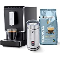 Tchibo Kaffee Vollautomat Esperto Caffè 1.1 (19 bar, 1470 Watt), Anthrazit (inkl. elektr. Milchaufschäumer aus Edelstahl…