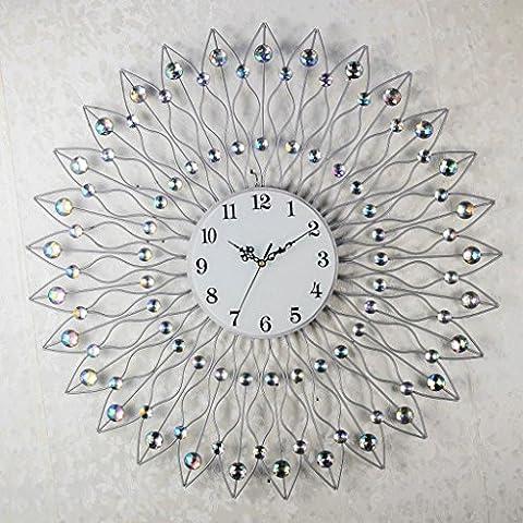 Corea alta calidad forja pared reloj plata pared local creativo relojes de pared