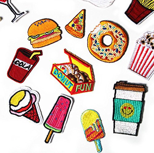 Burger Coke Drinks Egg Buiter Cloth Banner Velcro for Children Men Women (11piece)